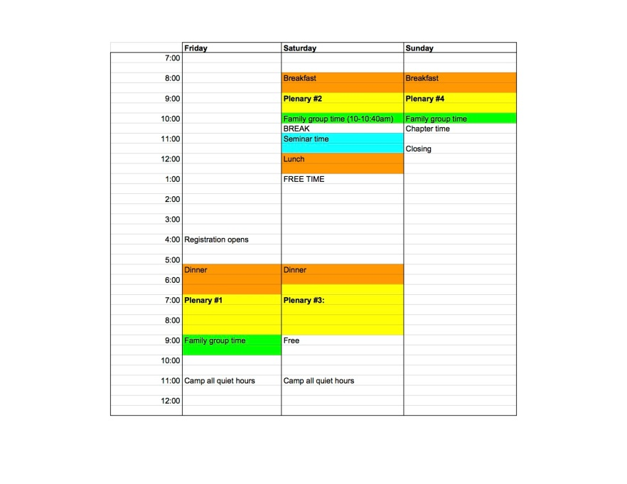 Fall Conference 2017 Master Spreadsheet (for real) - Student schedule
